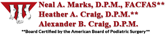 Neal A. Marks, D.P.M., FACFAS, Heather A. Craig, D.P.M., Alexander B. Craig, D.P.M.